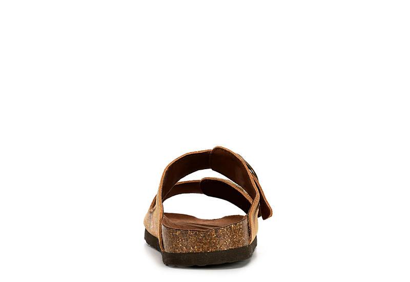 WHITE MOUNTAIN Womens Harlow Footbed Slide Sandal - BROWN