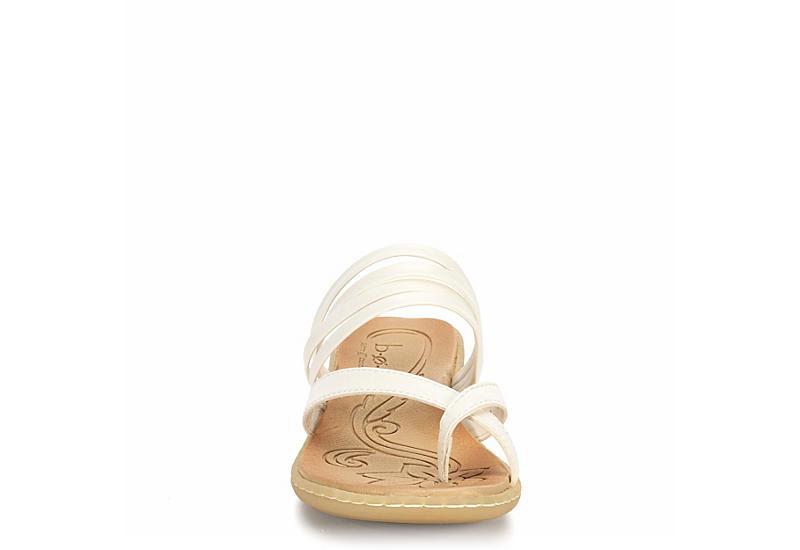 B.O.C Womens Alisha Flat Comfort Sandal - WHITE