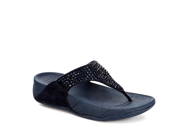 01d119448413f1 Fitflop Womens Glitzie Thong - Navy