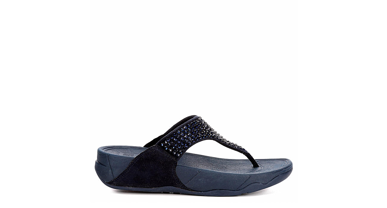 FITFLOP Womens Glitzie Thong - NAVY