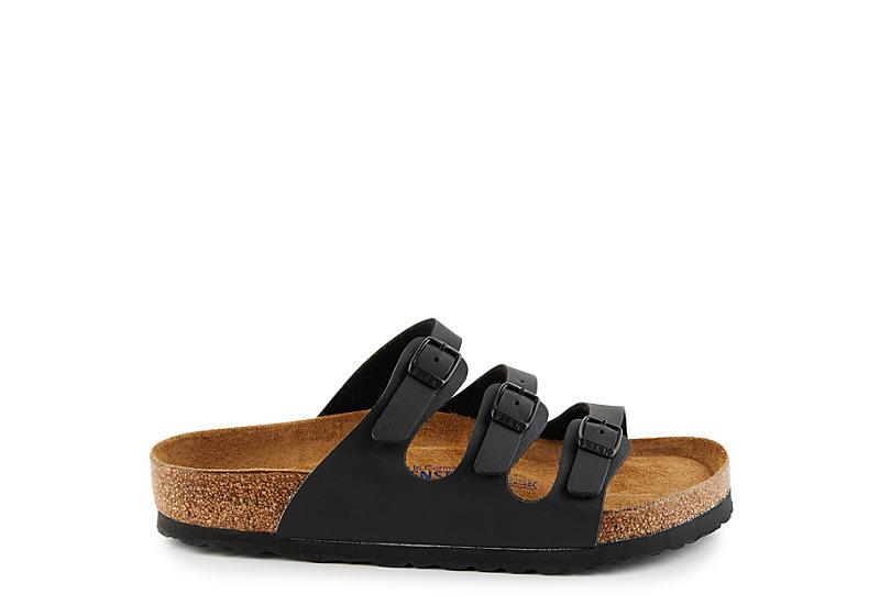 BIRKENSTOCK Womens Florida Sandal - BLACK