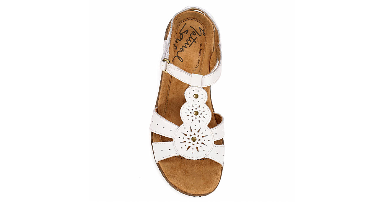 NATURAL SOUL BY NATURALIZER Womens Barton - WHITE
