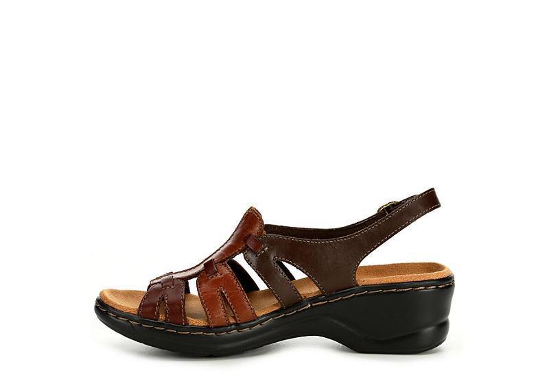 CLARKS Womens Lexi Marigold Comfort Sandal - BROWN
