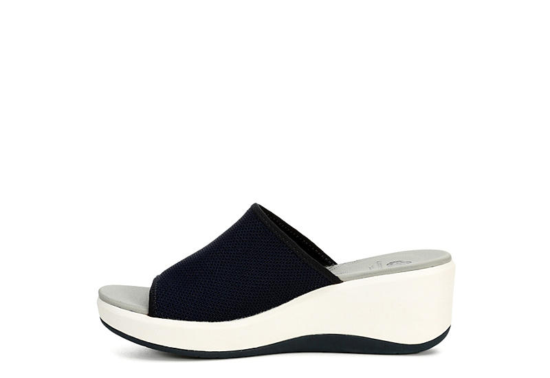 CLARKS Womens Step Cali Bay - NAVY
