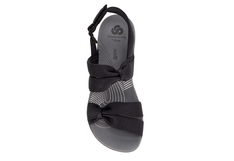 CLARKS Womens Cloudstepper Arla Primrose Comfort Sandal - BLACK