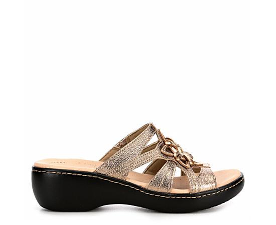 Womens Delana Venna Wedge Slide Sandal