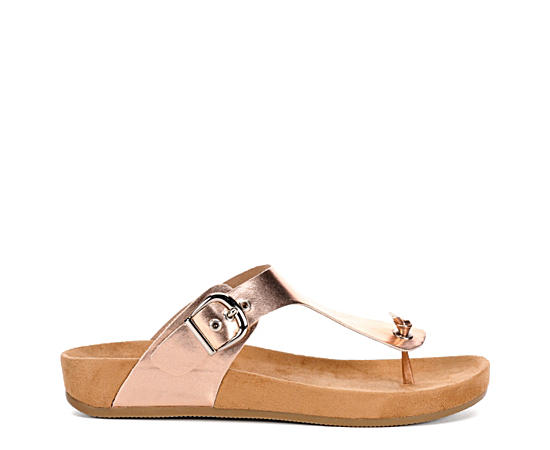 Womens Chloe Footbed Thong Sandal