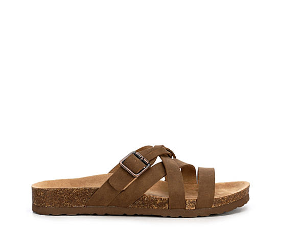 Womens Harper Footbed Slide Sandal