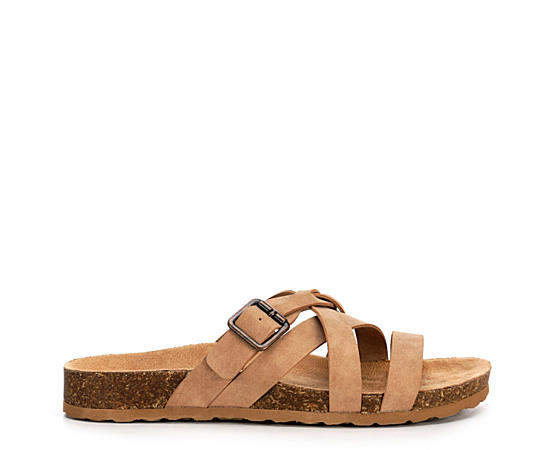 Womens Harper Footed Slide Sandal