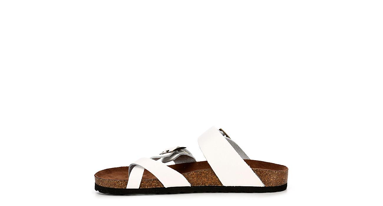 WHITE MOUNTAIN Womens Gracie Footbed Sandal - WHITE