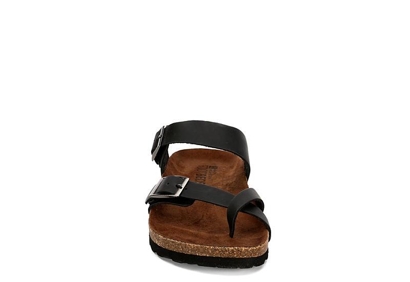 WHITE MOUNTAIN Womens Gracie Footbed Sandal - BLACK