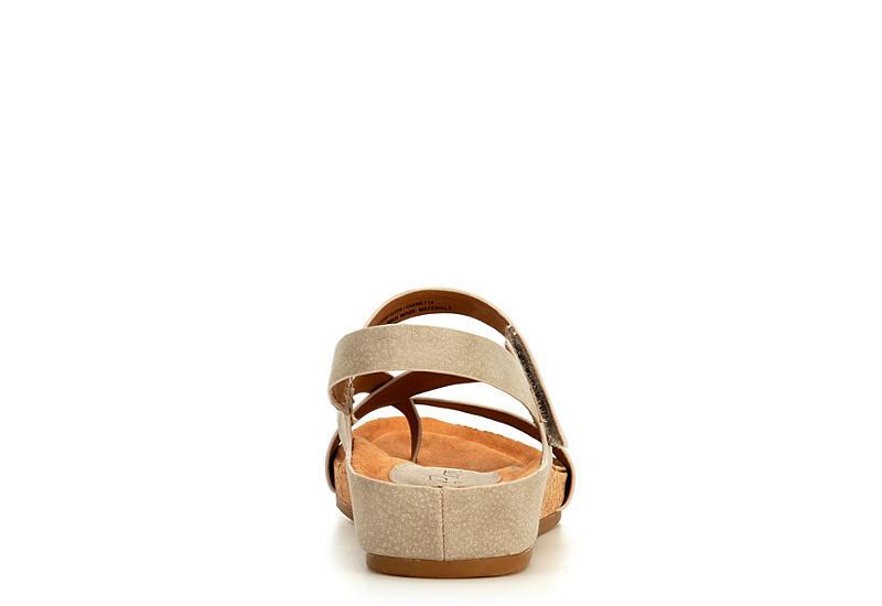 EUROSOFT Womens Gianetta Footbed Sandal - TAUPE