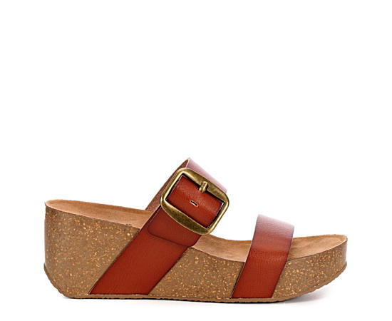Womens Daisy Wedge Slide Sandal