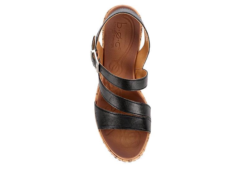 B.O.C Womens Schirra Wedge Sandal - BLACK