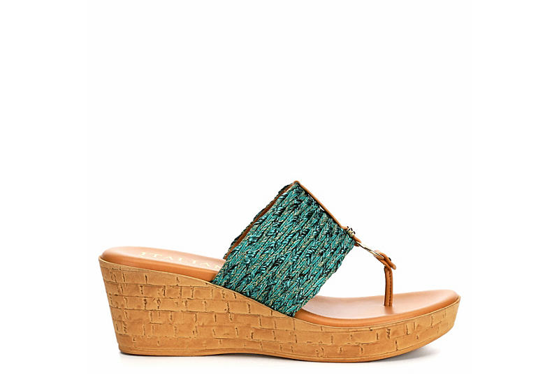 ITALIAN SHOEMAKERS Womens Angeles - TEAL