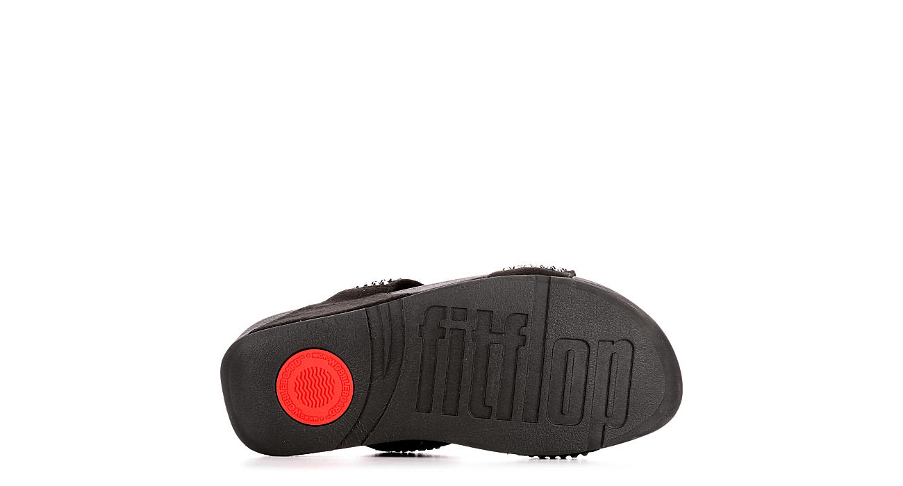 FITFLOP Womens Glitzie Slide - BLACK