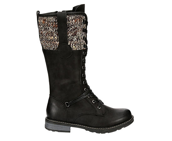 Womens Sharla Tall Combat Boot