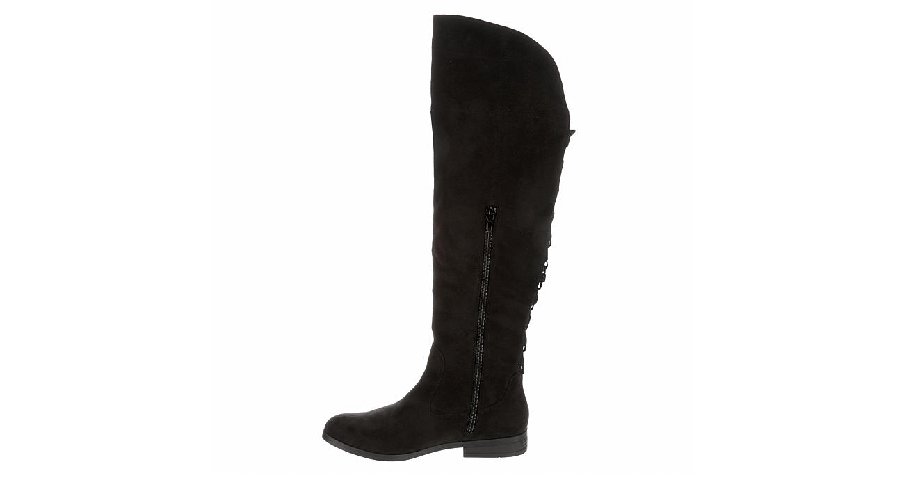 L4L Womens Riot Over The Knee Boot - BLACK