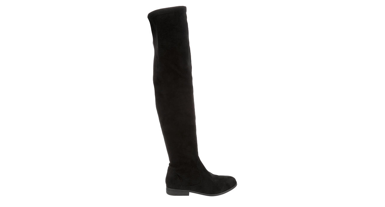 L4L Womens Raven Over The Knee Boot - BLACK