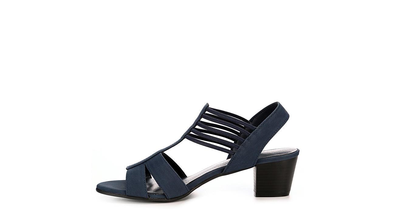 LAUREN BLAKWELL Womens Adena Dress Sandal - NAVY