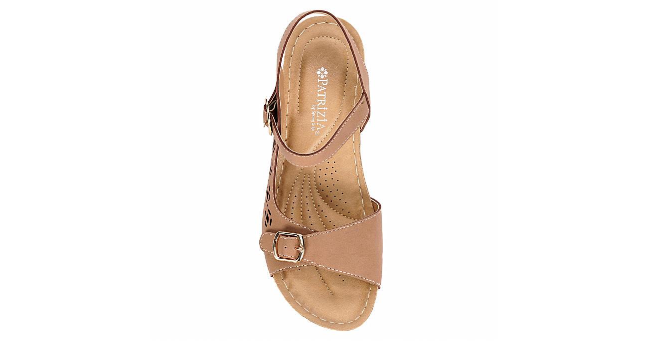 PATRIZIA Womens Shantay Wedge Sandal - CAMEL