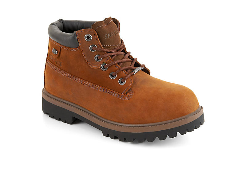 7d3fd52af1e92 Brown Skechers Mens Verdict | Boots | Off Broadway Shoes