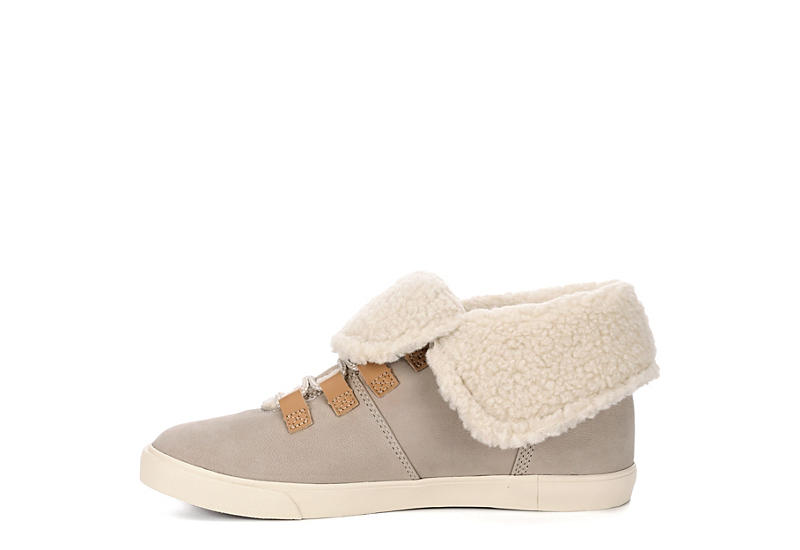 TIMBERLAND Womens Dausette Fleece Fold-down Boot - TAUPE