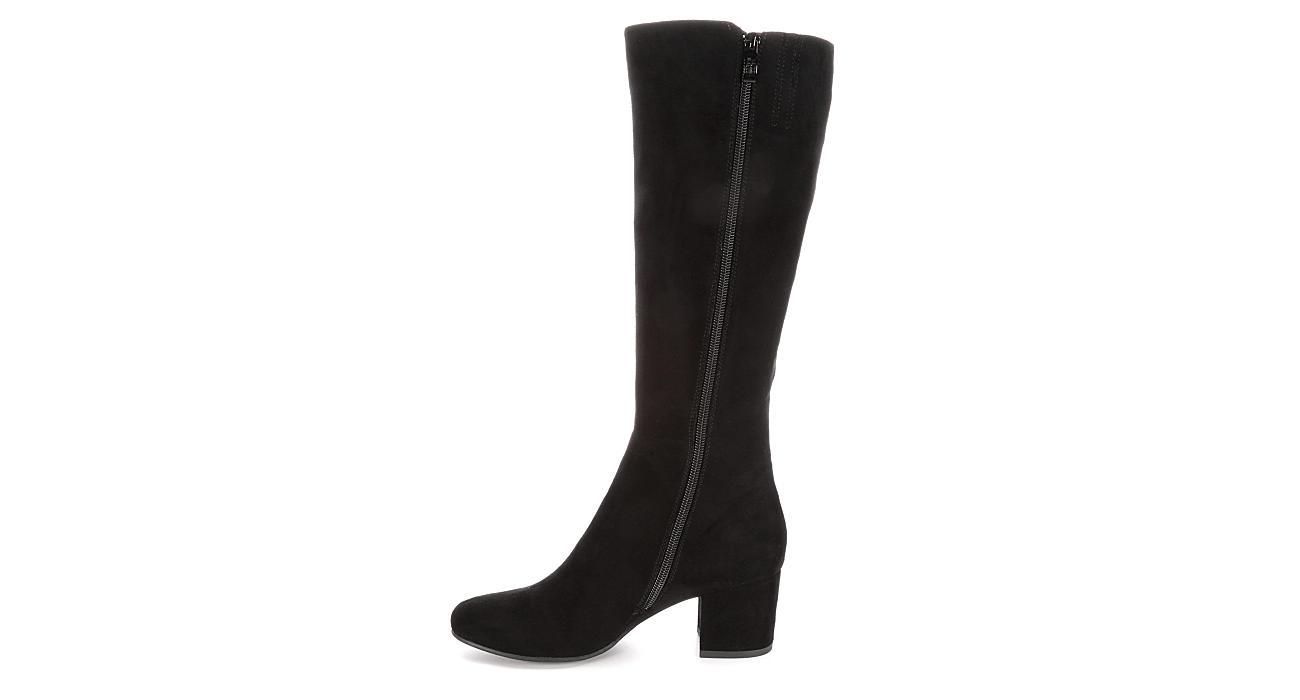 LAUREN BLAKWELL Womens Joyce Wide Calf Dress Boot - BLACK