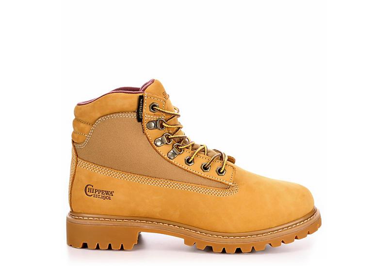 CHIPPEWA Mens 24514 Gunnison Lug 6 Waterprpf Insulated Work Boot - TAN