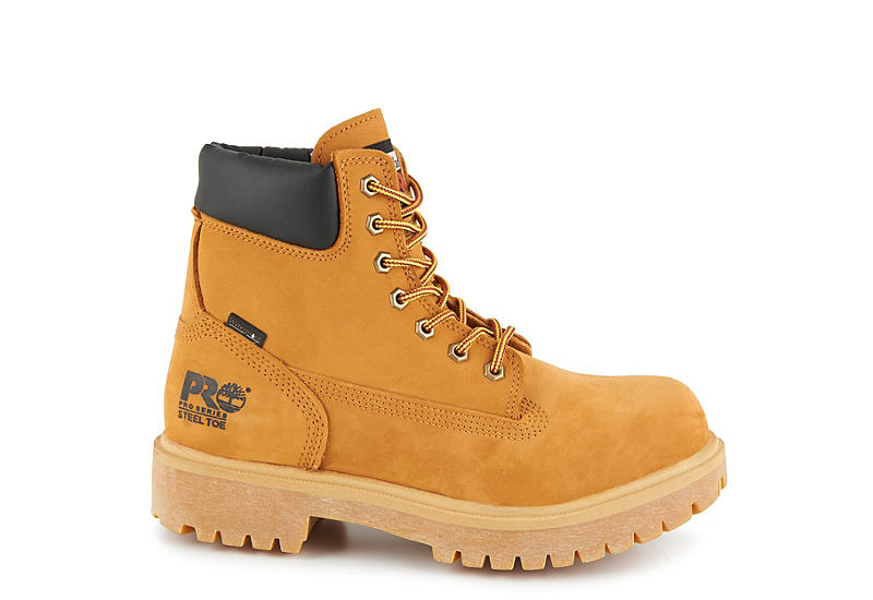 TIMBERLAND PRO Mens Direct Attach 6 Steel Toe Work Boot - CAMEL
