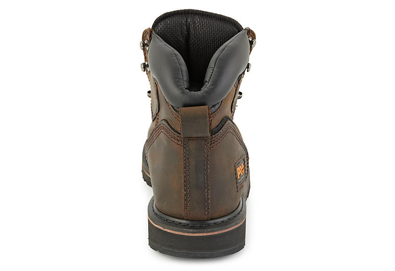 TIMBERLAND PRO Mens 6 Pit Boss Soft Toe Work Boot - BROWN