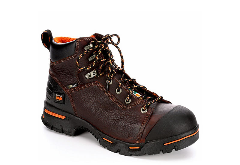 TIMBERLAND PRO Mens Endurance Pro 6 Steel Toe Work Boot - BROWN