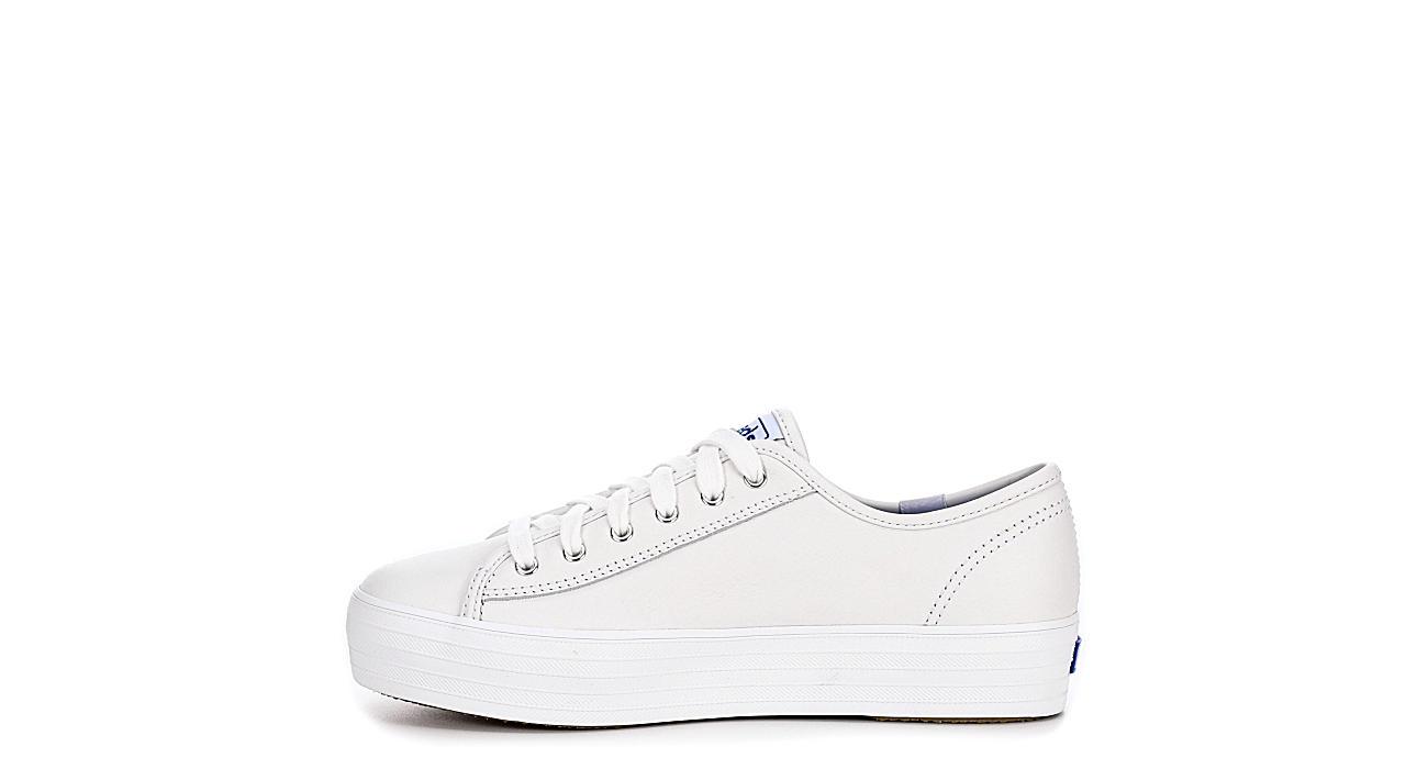 KEDS Womens Triple Kick Leather - WHITE