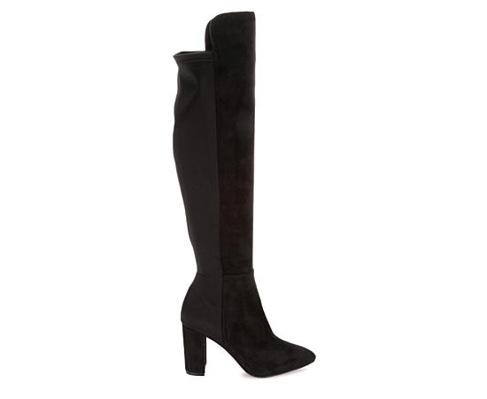 Womens Siyah Over The Knee Boot
