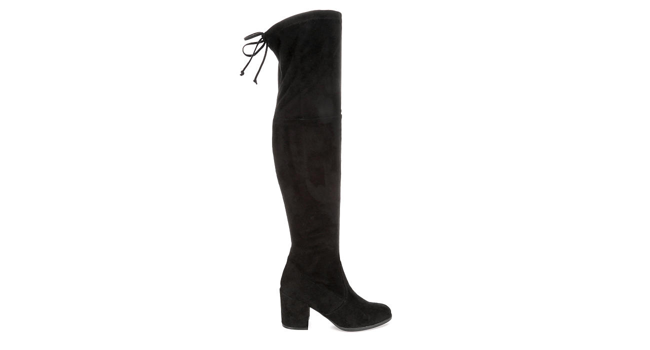 UNISA Womens Dedrii Over The Knee Dress Boot - BLACK
