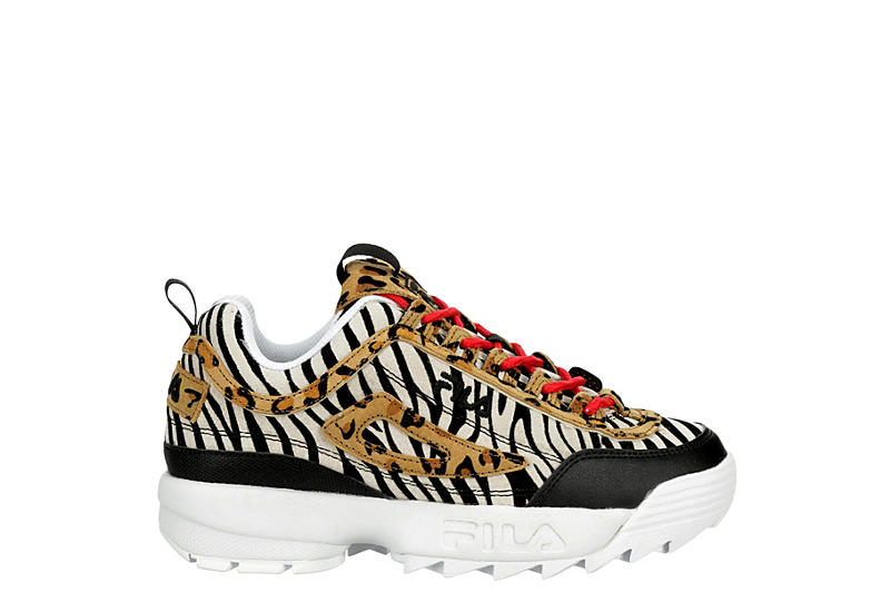Fila Womens Disruptor Ii Premium Sneaker Animal