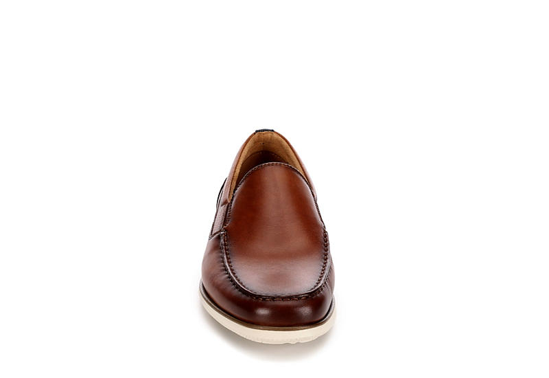 FLORSHEIM Mens Atlantic Moc Toe Dress Casual Loafer - COGNAC