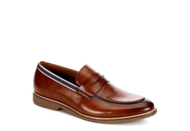 STEVE MADDEN Mens Orre Moc Toe Dress Casual Loafer - TAN