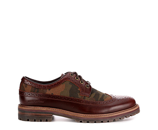 Mens Briggs-palo Camo Leather Casual Wingtip Oxford
