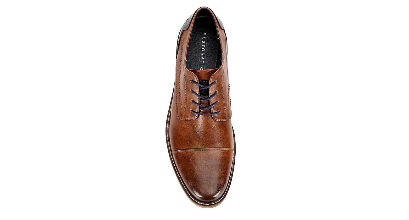 RESTORATION Mens Lowry Oxford Shoe - COGNAC