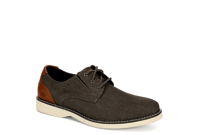 SKECHERS Mens Parton-wilcon Air Cooled Memory Foam Oxford - BROWN