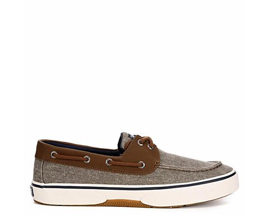 Mens Halyard 2-eye Canvas Boat Shoe