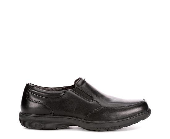 Mens Myles Street Slip Resistant Moc Toe Slip On