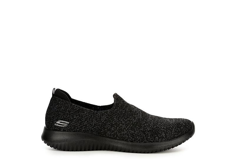 SKECHERS Womens Ultra Flex Harmonious Sneaker - BLACK