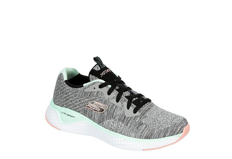 GREY SKECHERS Womens Solar Fuse Sneaker