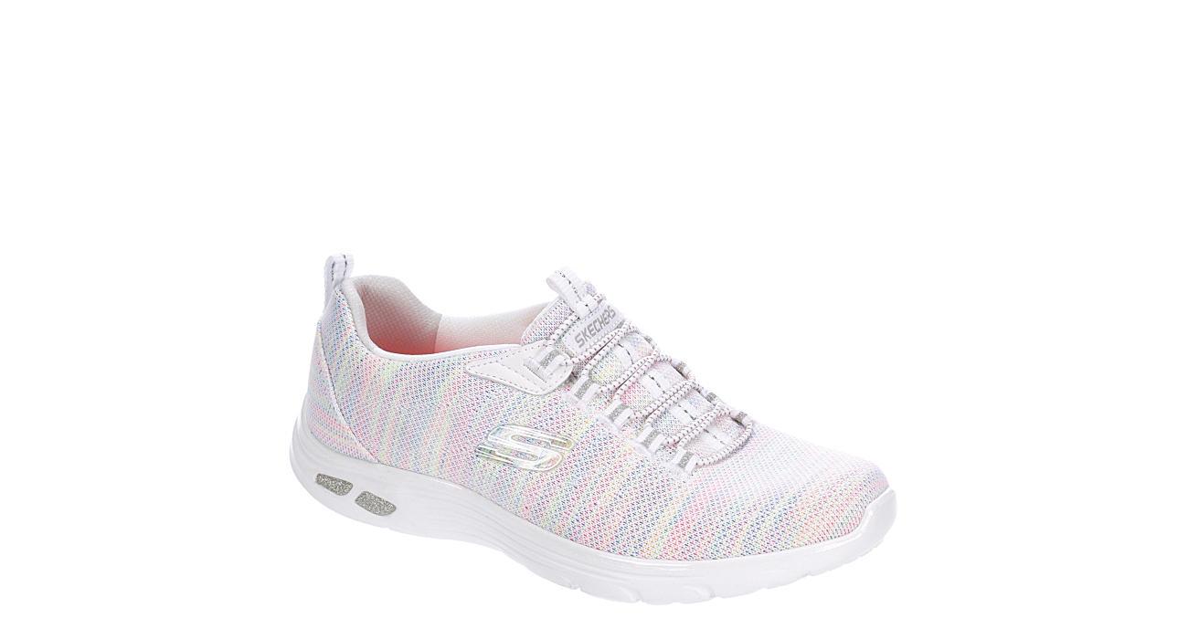 SKECHERS Womens Empire Dlux Sneaker - WHITE