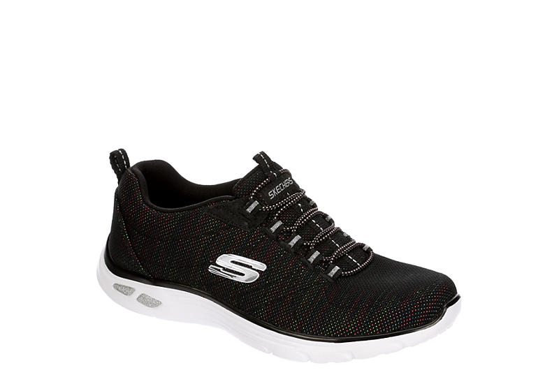 SKECHERS Womens Empire Dlux Sneaker - BLACK