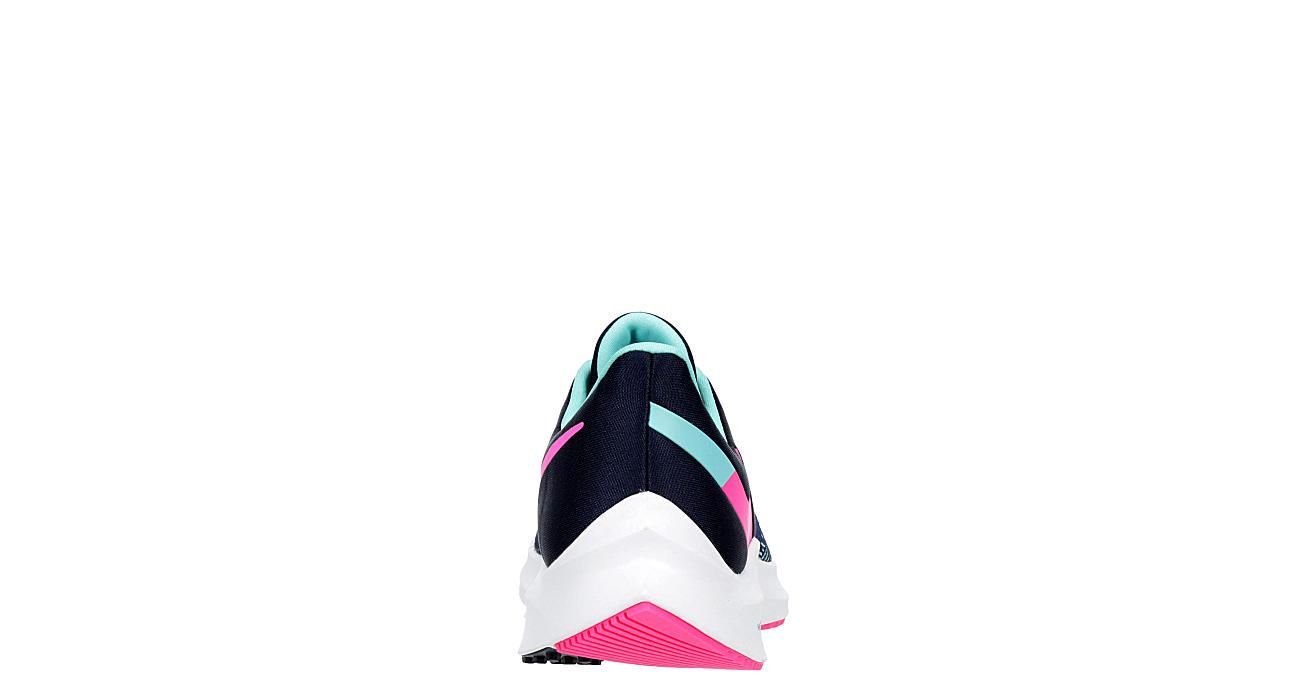 NIKE Womens Winflo 6 Running Shoe - NAVY