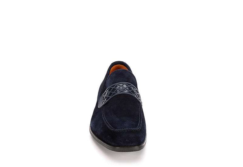 STACY ADAMS Mens Crispin - NAVY