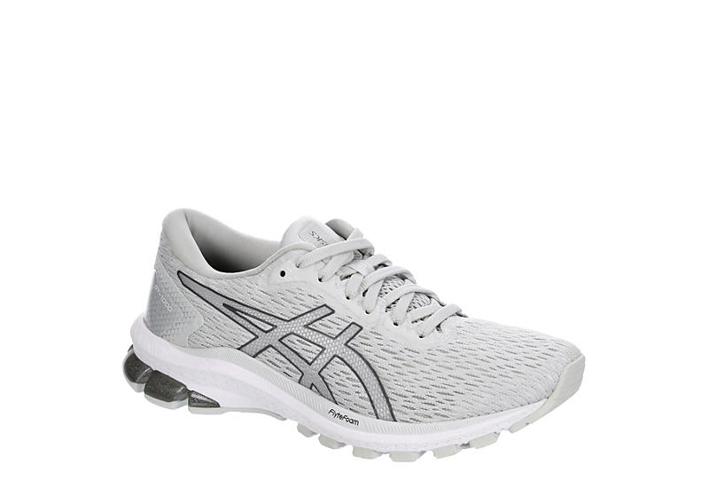 WHITE ASICS Womens Gt-1000 9 Running Shoe